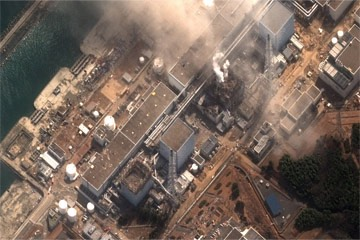 20110316 - Satellite view of the Fukushima-Daichii nuclear power plant on March 16, 2011