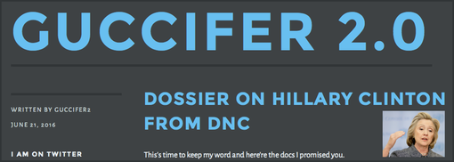 20160621 GUCCIFER 2.0 Dossier on Hillary Clinton from DNC
