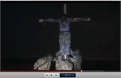 Pic 14. 20150425 BATALLION AZOV Crucifixtion w. Cross Burning !!! 18+ !!!.screenflow