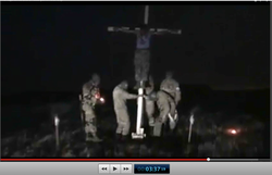 Pic 17. 20150425 BATALLION AZOV Crucifixtion w. Cross Burning !!! 18+ !!!.screenflow