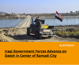 Pic 2. Iraqi Government Forces Advance on Daesh in Center of Ramadi City