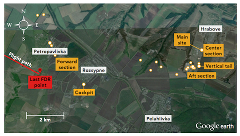 Pic 2. mh17-debris-location