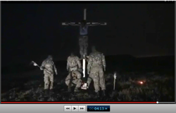 Pic 22. 20150425 BATALLION AZOV Crucifixtion w. Cross Burning !!! 18+ !!!.screenflow