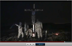 Pic 23.1. 20150425 BATALLION AZOV Crucifixtion w. Cross Burning !!! 18+ !!!.screenflow