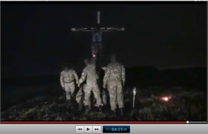 Pic 23.4. 20150425 BATALLION AZOV Crucifixtion w. Cross Burning !!! 18+ !!!.screenflow
