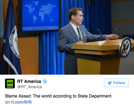 Pic 8. Blame Assad- The world according to State Department