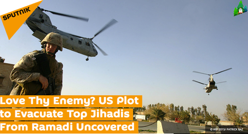 Pic _1. HEADLINE- Love Thy Enemy? US Plot to Evacuate Top Jihadis From Ramadi Uncovered