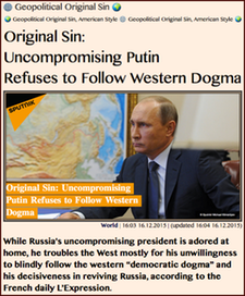 TITLE-  Original Sin- Uncompromising Putin Refuses to Follow Western Dogma