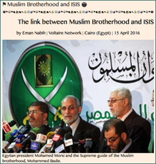"TITLE- 20160415 ""The link between Muslim Brotherhood and ISIS,"" by Eman Nabih"