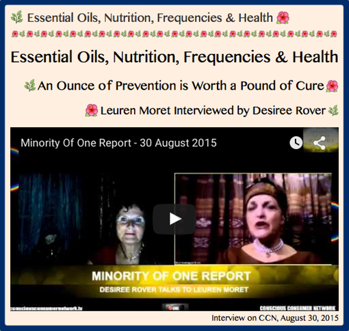TITLE- Leuren Moret interviewed by Desiree Rover, Essential Oils