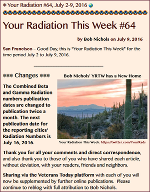 TITLE- Your Radiation #64,  July 2-9, 2016