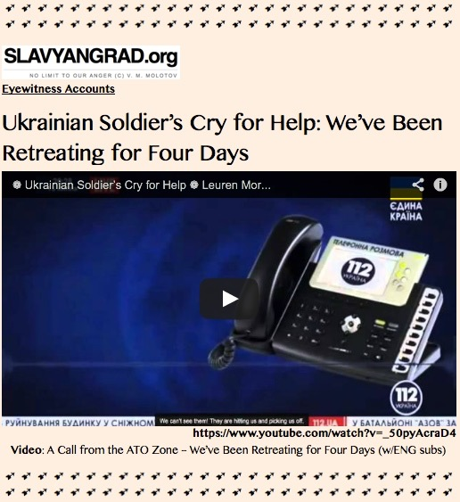 TITLE PLATE- Ukrainian Soldier's Cry for Help